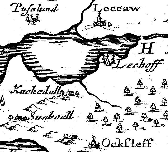 Johannes Mejers Karte 17. Jahrhundert